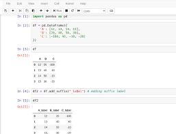 set suffix for dataframe column in