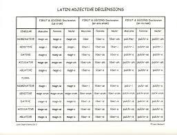 Latin Adjective Declensions Teaching Latin Latin Language