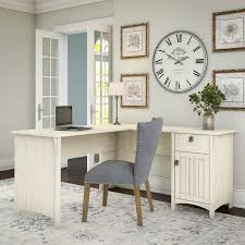 white l shaped desk. Modren White Shop Maison Rouge Lucius Antique White Lshaped Storage Desk  Free  Shipping Today Overstockcom 20133407 Throughout L Shaped E
