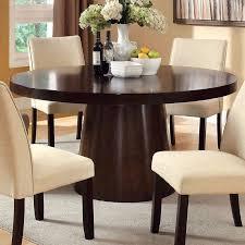 furniture of america vessice round pedestal dining table espresso hayneedle