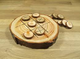 Wooden Naughts And Crosses Game Natural Rustic Wooden Tic Tac Toe or Noughts and Crosses Game 65