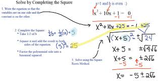 two methods for solving quadratic equations taking square roots and completing
