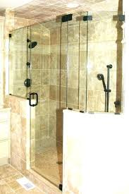 shower half wall shower glass a act doors in mounted heads design