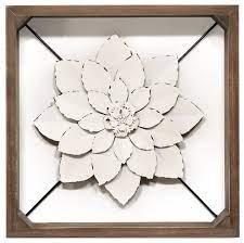 stratton home decor white framed metal