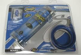 stinger 1 farad digital led capacitor cap install kit