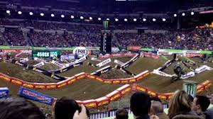 Lucas Oil Stadium Seating Chart Supercross 2014 Indianapolis Ama Supercross 450 Main Event Start With Crash At Lucas Oil Stadium