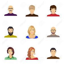 眼鏡髪型を持つ男ひげと顔の他の品種にハゲの男性に女の子の登場です