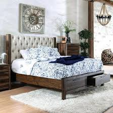 diy upholstered bed. Upholstered Bed With Drawers Furniture Of Eastern King In Rustic Natural Tone Diy R