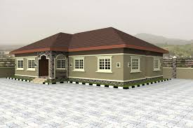 Modern Four Bedroom House Plans Home Plans For Bungalows In Nigeria Properties 4 Nigeria