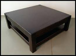 elegant square wooden coffee table dark wood lover and enthusiasts low solid