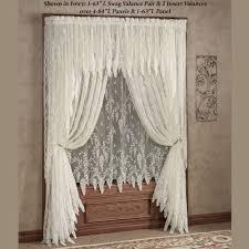 ... Stylish Design Lace Window Curtains Valuable Wisteria Arbor Treatments