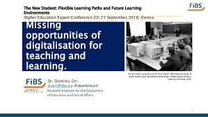 Missing opportunities of digitalisation for teaching and learning