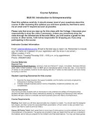Introduction To Entrepreneurship Course Syllabus Bus 55 Introduction To Entrepreneurship