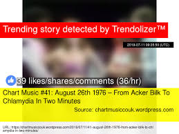1976 Music Charts Chart Music 41 August 26th 1976 From Acker Bilk To