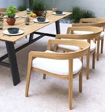 teak garden dining chairs with retro