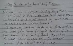 wannabe lord chief justices must pen word essay to land top  lord chief justice essay