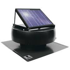 1000 CFM 12-Watt Solar Powered Attic Fan