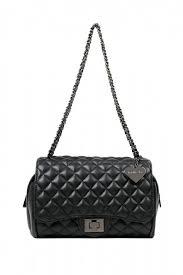 Knightsbridge Black Quilted Shoulder Bag   marc b. &  Adamdwight.com