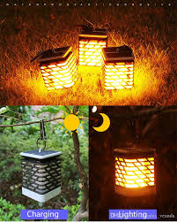 Landscape Lights That Look Like Flames 2019 Factory Solar Powered Led Simulation Flame Effect Lantern Light Outdoor Waterproof Hooked Flickering Fire Lawn Lamp Garden Yard Decoration From