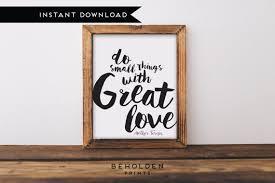 Digital Download Dorm Decor Mother Teresa Quote Faith Etsy Best Love Inspiration Pics Download