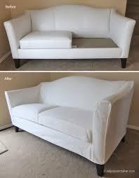 white denim slipcover for ethan allen leather sofa the maker pertaining to design 7