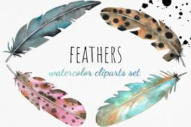 Digital files, once purchased, you can download the zip folder directly from etsy. 3 Watercolor Feathers Designs Graphics