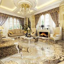 european style 3d floor tiles mural marble wallpaper living room hotel wear non slip waterproof self adhesive luxury wall papers by good co ltd