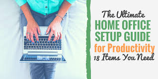 Items home office Banner The Ultimate Productive Home Office Setup Guide 18 musthave Items Develop Good Habits The Ultimate Productive Home Office Setup Guide 18