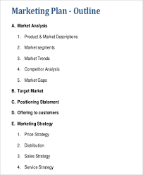 Executive Summary Outline Sample Of Business Plan Outline