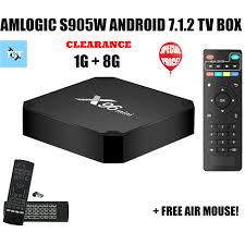 X96 Mini 1G/8G Android Smart TV Box Bundle With Air Mouse