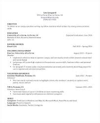 Sample Recent Graduate Resume Examples Of Student Resumes