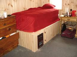 raised cabin bed frame with space