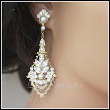 best art deco bridal earring gold wedding rhinestone chandelier pic for vintage inspiration and ideas wedding