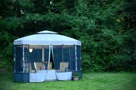 outdoor canopy with screen gazebos with screens for bug free backyard relaxation outdoor canopy screen room