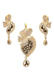 antique gold look american diamond designer pendant set ps2261311 a 1200x1799 jpg