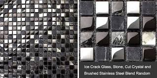 enlarged photos of the stone glass mosaic tile