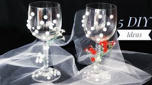 Wine glass decorating ideas for weddings Brilliant Wedding Glasses Decoration Ideas Diy Wedding Glasses Design Tutorial Youtube Wedding Glasses Decoration Ideas Diy Wedding Glasses Design