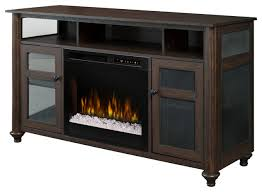 dimplex xavier media console electric fireplace with glass ember bed traditional entertainment centers and tv stands by chimney