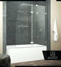 hinged tub door in brushed nickel with towel bar handle bath doors frameless bathtub reviews
