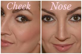 powder how to contour the nose and cheekbones with nyx contour palette