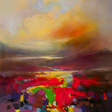 present energy semi abstract landscape painting by scott naismith