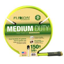 flexon garden hose. Flexon 5/8 In. Dia X 150 Ft. Medium Duty Reel Hose Garden