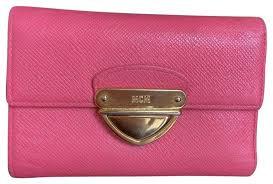 Tri Fold Window Mcm Pink W Leather Medium Tri Fold W Photo Window Wallet
