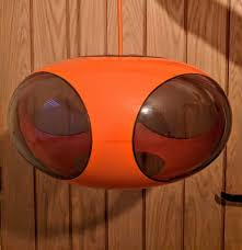 Vintage 1970s Orange Ufo Lamp By Designer Luigi Colani In