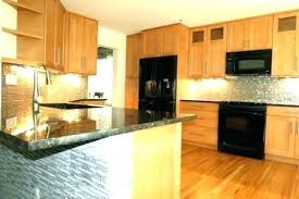 maple kitchen cabinets with black appliances. Light Maple Kitchen Cabinets With Black Appliances B