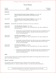 Recent College Graduate Resume Template Standart Capture 8 10 Sample
