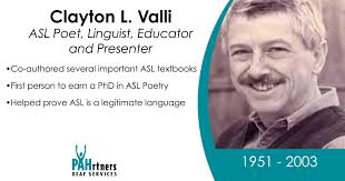 Clayton Valli was a very... - PAHrtners Deaf Services | Facebook