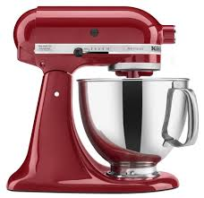 kitchenaid mixer artisan 5 quart red