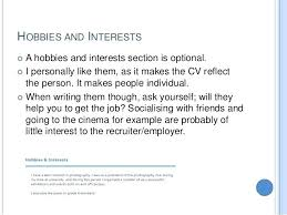 Hobby And Interest In Resume Hobbies And Interests Cv Barca Fontanacountryinn Com