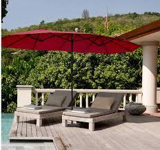 extra large patio umbrella double twin